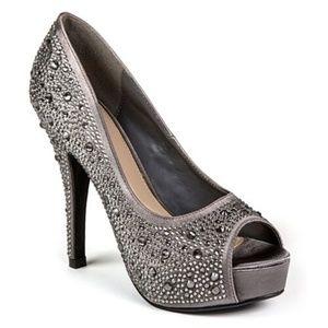 New! Lady Couture Lauren Peep Toe Heels